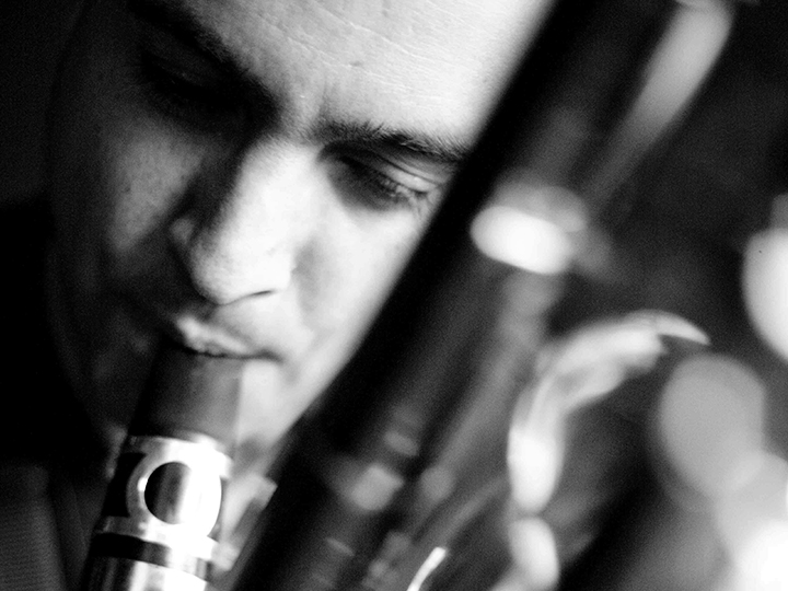 Adam Simmons - saxes / woodwinds. BOLT Ensemble