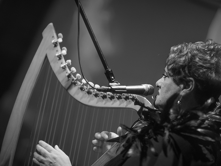 Mary Doumany - harp / voice. BOLT Ensemble